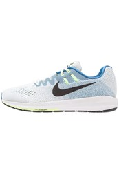 Nike Performance Air Zoom Structure 20 Stabilty Running Shoes White Black Industrial Blue Ghost Green