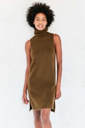 Bdg Turtleneck Mini Sweater Dress Olive