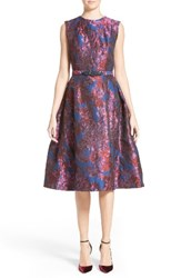 Badgley Mischka Couture. Women's Couture Floral Jacquard Fit And Flare Dress