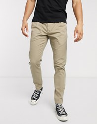 Only And Sons Slim Fit Chinos In Beige Grey
