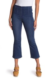 Free People Ultra High Cropped Bootcut Jeans Blue