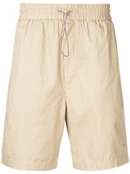 Wood Wood Drawstring Fitted Shorts Neutrals