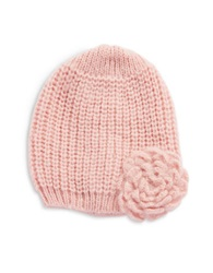 Wooden Ships Knit Flower Beanie Pink
