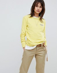 Dickies Oversized Long Sleeve T Shirt With Reflective Logo Yellow