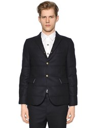 Moncler Gamme Bleu Quilted Flannel Wool Jacket