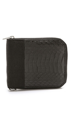 Alexander Wang Zipped Snakeskin Wallet Black
