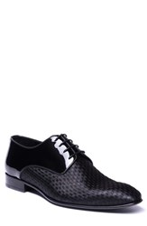 Jared Lang Marco Checkerboard Derby Black Leather