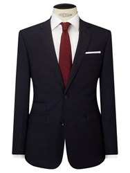 John Lewis Stripe Tailored Fit Suit Jacket Navy