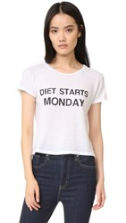 Private Party Diet Starts On Monday Tee White