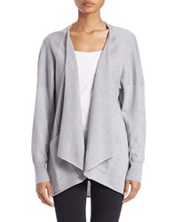 Lord And Taylor Long Sleeve Open Front Cardigan Platinum Heather
