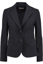 Tory Burch Marissa Cotton Blend Blazer Midnight Blue