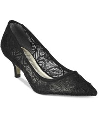 Adrianna Papell Lois Lace Pointed Toe Kitten Heel Pumps Women's Shoes