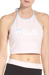 Fila Women's Luann Crop Halter Top Rosa Bella Skyway