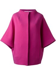 Gianluca Capannolo Bell Sleeve Coat Pink And Purple