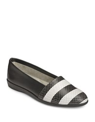 Aerosoles Trend Setter Loafers Black White Snake