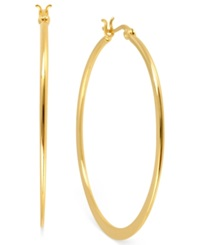 Hint Of Gold 14K Gold Plated Brass Earrings 40Mm Hoop Earrings