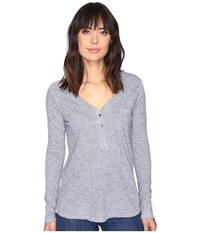 Lanston Pocket Henley Heather Women's Clothing Gray