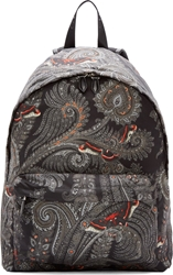Givenchy Grey And Orange Nylon Paisley Backpack
