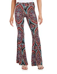 Vintage Havana Printed Flared Pants Purple Multi