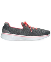 Skechers Women's Gowalk 4 All Day Comfort Casual Walking Sneakers From Finish Line Grey Pink