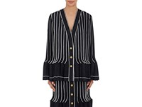 Thom Browne Women's Wool Mohair Pleated Jacket Navy