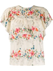 Red Valentino Frilled Floral Print Blouse 60