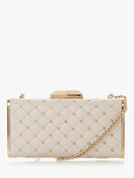 Dune Bsaavy Quilted Boxy Clutch Bag White