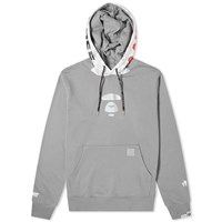 Aape By A Bathing Ape Universe Popover Hoody Grey