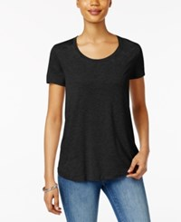 Style And Co Scoop Neck T Shirt Only At Macy's Deep Black
