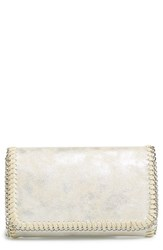 Chelsea 28 Chelsea28 Mini Faux Leather Clutch Metallic Platinum