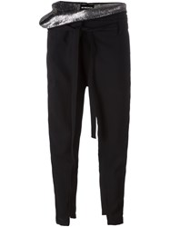 Ann Demeulemeester Loose Waist Tapered Trousers Black