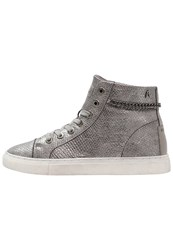 Replay Dunde Hightop Trainers Dark Silver