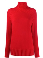 Polo Ralph Lauren Relaxed Fit Roll Neck Jumper Red