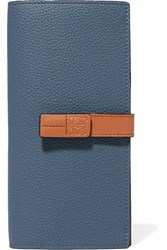 Loewe Textured Leather Wallet Blue