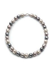 Majorica 14Mm Multicolor Baroque Pearl And Sterling Silver Strand Necklace 20