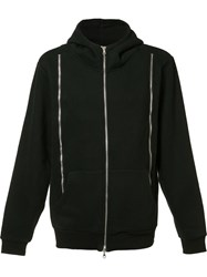 Mostly Heard Rarely Seen Zippers Hoodie Black