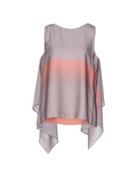 Space Style Concept Topwear Tops Women Light Grey