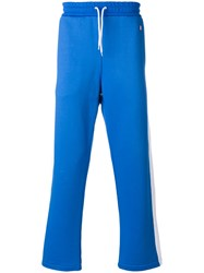 Ami Alexandre Mattiussi Track Pants With Band Cotton Polyester Blue