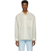 Golden Goose Off White Striped Anthony Shirt