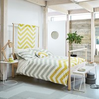 Scion Vector Sunflower And Slate Duvet Cover Grey Yellow