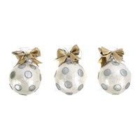 Mackenzie Childs Silver Dot Ball Tree Decorations Set Of 3