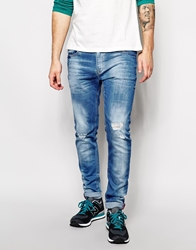 Pull And Bear Pullandbear Skinny Jeans Lightblue