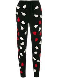 Chinti And Parker Confetti Heart Track Pants Cashmere Black