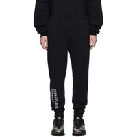 Enfants Riches Deprimes Ssense Exclusive Black Embroidered Logo Lounge Pants