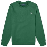 Fred Perry Back Print Sweat Green