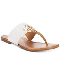 Tommy Hilfiger Sia Slip On Thong Sandals Women's Shoes White