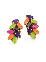 Erickson Beamon Technicolor Crystal Stud Earrings Multicolor