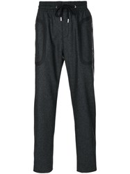 Givenchy Track Trousers Men Cotton Polyester Polyurethane Wool 46 Grey
