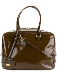 Moschino Vintage Structured Tote Bag Brown