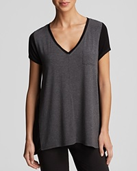Dkny Urban Essential Colorblock Tee Charcoal Heather